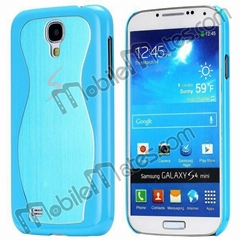 S-shape Brushed Aluminum+Plastic Back Cover Hard Case for Samsung i9190 Galaxy
