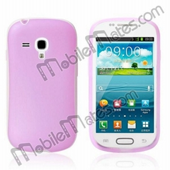 Candy Color Oil Coated Frosted TPU Case Cover for Samsung Galaxy S3 Mini I8190