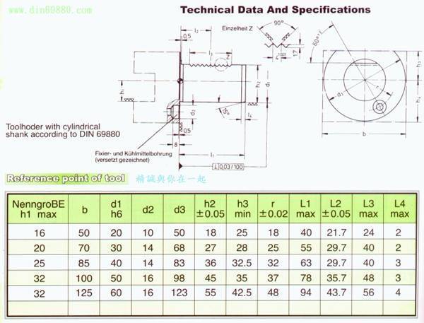 VDI Tool Holders,DIN69880 Standard,VDI ToolHollder