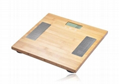 Bamboo electronic body fat scale
