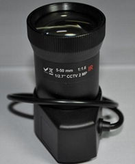 5-50mm CS Mount Lens Vari-focal 2 Megapixel HD Lens--metal