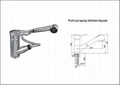 Pull out kitchen faucet Bath Mixer&Taps Kitchen faucet Basin Faucet
