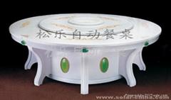 歐式大理石電動餐桌