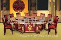 皇家紅珍珠電動餐桌