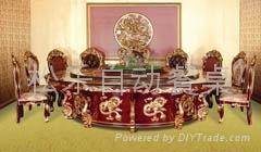皇家神龍電動餐桌