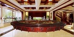 十米紅木電動餐桌