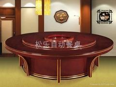 現代實木電動餐桌