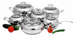 SA-12014 12pcs Stainless Steel cooking pot