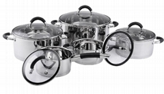 SA-12020 10pcs Stainless Steel cook pots