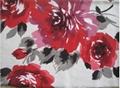 Paper print polyester velvet super soft