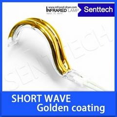 Golden coated infrared halogen bulb