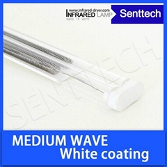 Twin tube durable IR heater with golden reflector