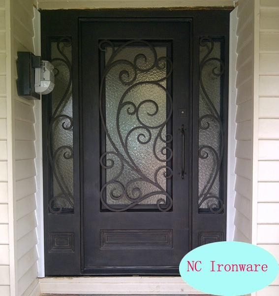Security Wrough Iron Door With Sidelight Nc Nd002 Nc