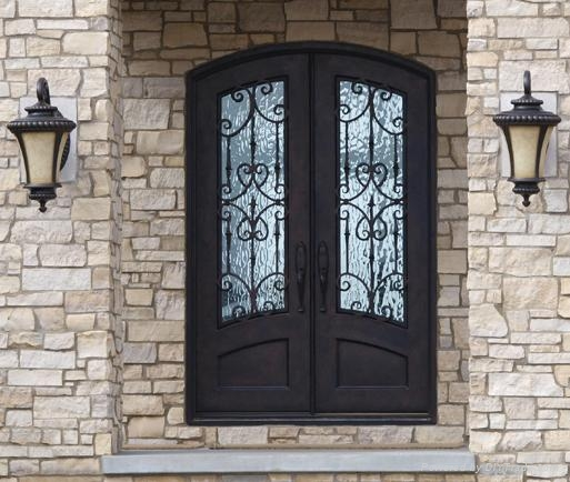 Wrought Iron Double Entry Door Nc Nd006 Nc China Manufacturer
