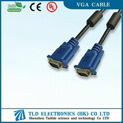 Blue Head VGA Cable Brand to LCD TV With Ferrite Core