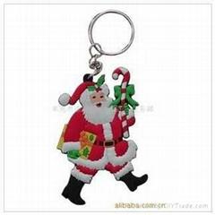 PVC聖誕老人鑰匙扣