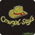 Cowgirl hat hot fix rhinestone