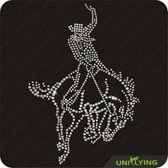 Prince on horse custom rhinestone transfer