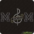 Music band mom hot fix motif rhinestone