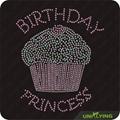 Brithday princess cake rhinestone