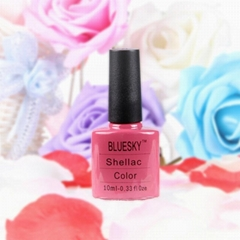 Bluesky shellac gel polish uv led soak off color nail gel polish