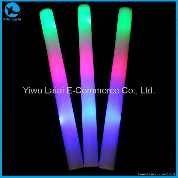 3-modes 3-colours LED foam glow stick 1