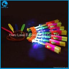 LED flashing slingshot flying arrow