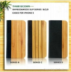 2013 bamboo & wood  cases for iphone 5