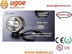 TOBEST LED 1000lm bike light support CE ROHS and UL-STR