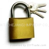 POFIKT BRASS PLATED IRON PADLOCK