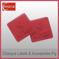 Silicone rubber label for garment