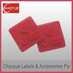 Silicone rubber label for garment