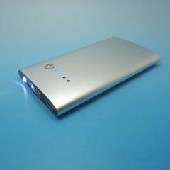 Aluminum 2200mah polymer aluminium LED power bank