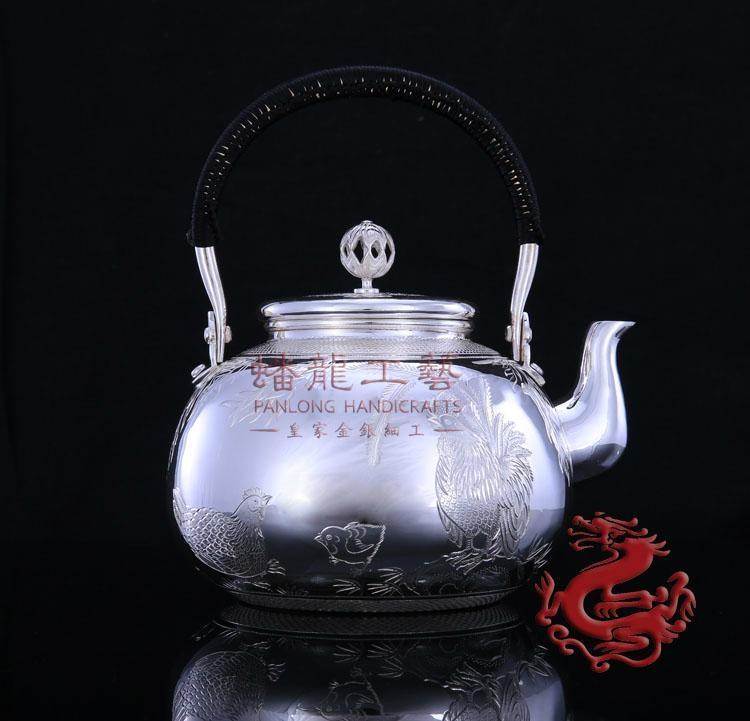 Si  er Tea kettle Tea Pot-Harmony Chicken Family 2