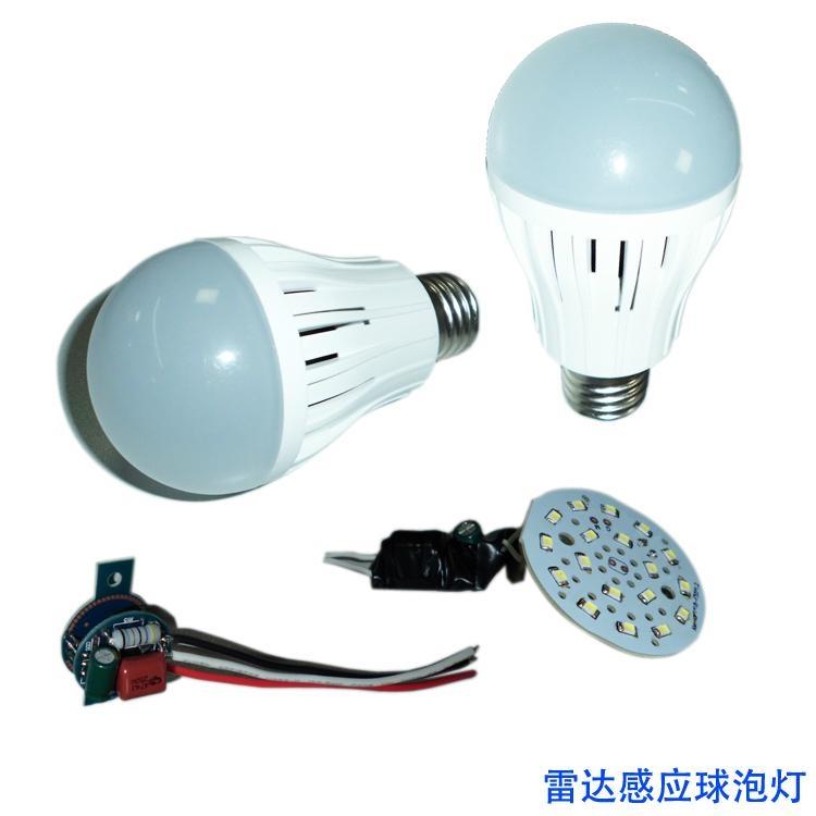 感應LED球泡燈,雷達感應球泡燈,微波LED燈泡 3