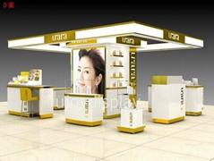 glass cosmetic display kiosk