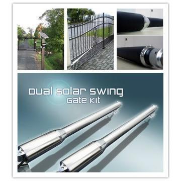 Solar power dual swing gate opener 1