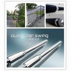 Solar power dual swing gate opener