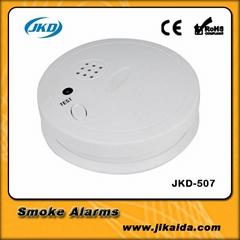 Wireless smoke detector led induction