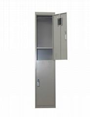 two door steel locker