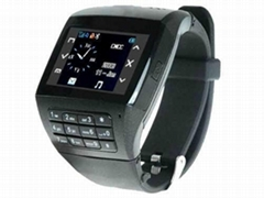 dual sim dual standby quadband button keypad wrist watch mobile phone