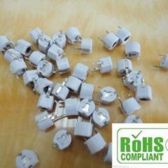 Variable capacitance 10 pf / 6 mm ceramic powder coating