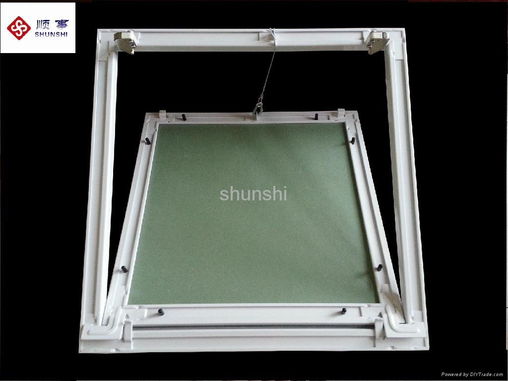 Security Gypsum Board : Ceiling access panel with aluminium frame and gypsum board