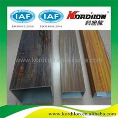 4D wood grain aluminum extrusion profiles for tube