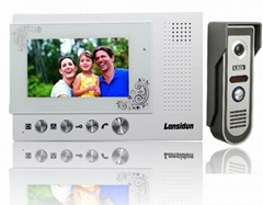 video door phone,  intercom kit handfree touch button indoor monitor
