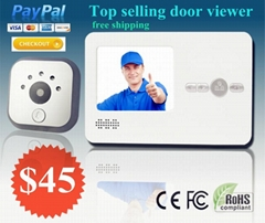 "2.8"" TFT LCD screen digital door peephole viewer camera Nightvision wide angle"