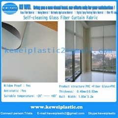 Self-cleaning Glass Fiber Curtain Fabric