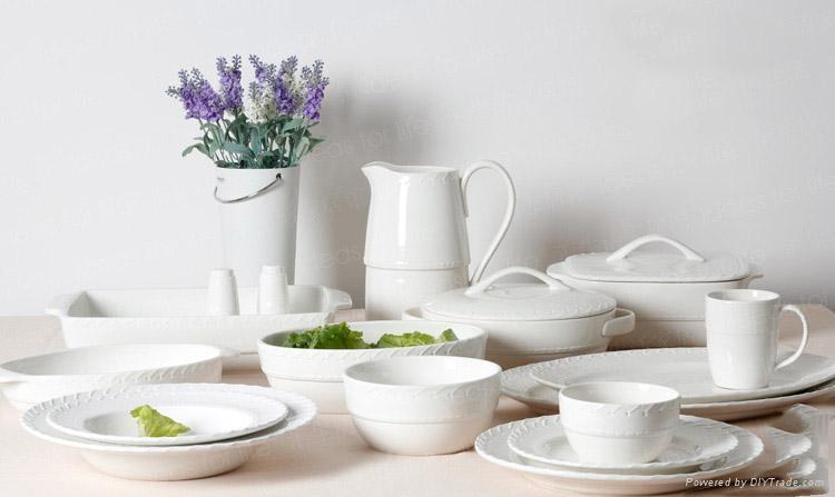 White Porcelain Dinnerware sets for restaurant hotel and home 1 & White Porcelain Dinnerware sets for restaurant hotel and home - gy01 ...