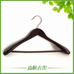 luxury wooden hanger made in china