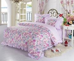 床上用品厂家 淑女小花温馨四件套 时尚休闲床品床单